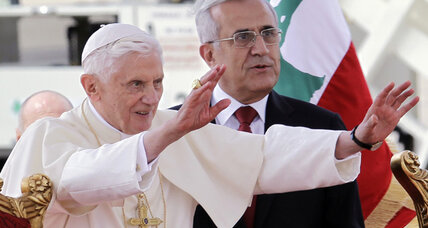 Pope appeals for peace upon arrival in Lebanon