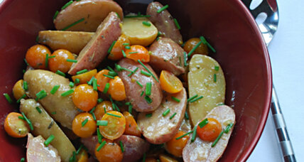 Potato and (yellow) cherry tomato salad