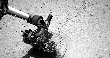 Curiosity rover makes contact with a Mars rock named 'Jake'