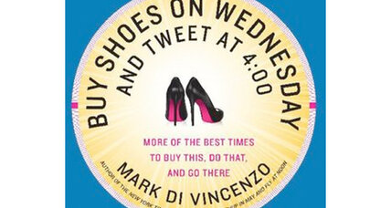 'Buy Shoes on Wednesday': 10 tips on when best to accomplish everyday tasks