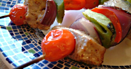 Need a quick dinner idea? Try fish kabobs.