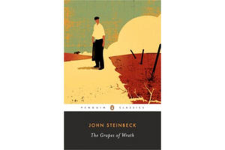"""the hardships of a common man in grapes of wrath by john steinbeck The novel, """"the grapes of wrath"""" by john steinbeck, takes you on a chronicle of one family's migration, from oklahoma to california as a result of exodus the family is forced to migrate west in search of a livelihood during the great depression of the 1930's."""