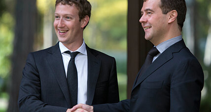 Facebook CEO Mark Zuckerberg meets with Medvedev in Russia