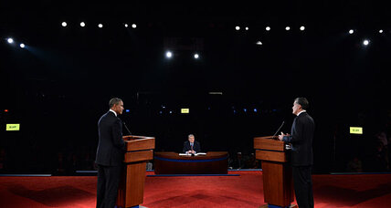 Mitt Romney scores points in presidential debate, but will it help him?
