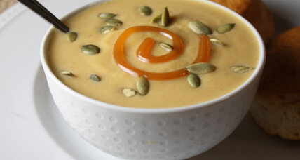 Roasted pumpkin caramel bisque