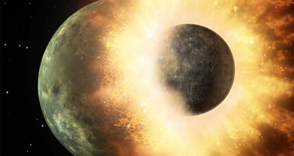 Moon formed from humongous Earth collision, new theories attempt to explain