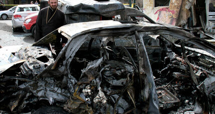 Taxi bomb hits Syrian capital as UN envoy pushes for cease-fire