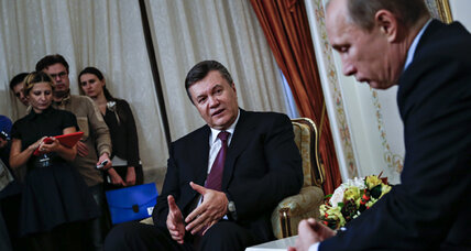 In Russia, with love? Ukraine president meets Putin as options dwindle.