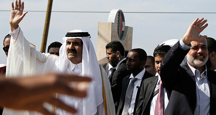 Qatari emir comes to Gaza bearing gifts – maybe with some strings attached
