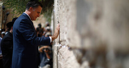 Can Mitt Romney sway Jewish voters with 'apology tour' quip?