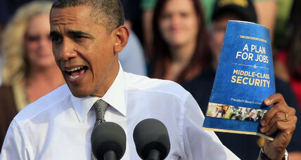 Obama unveils economic plan: 5 ways it differs from Romney's (+video)