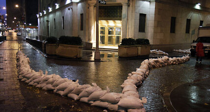 Stock futures fall; Sandy shuts down US markets