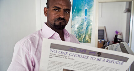 Kebedom Mengistu's little newspaper gives hope to Africans who've fled to Israel