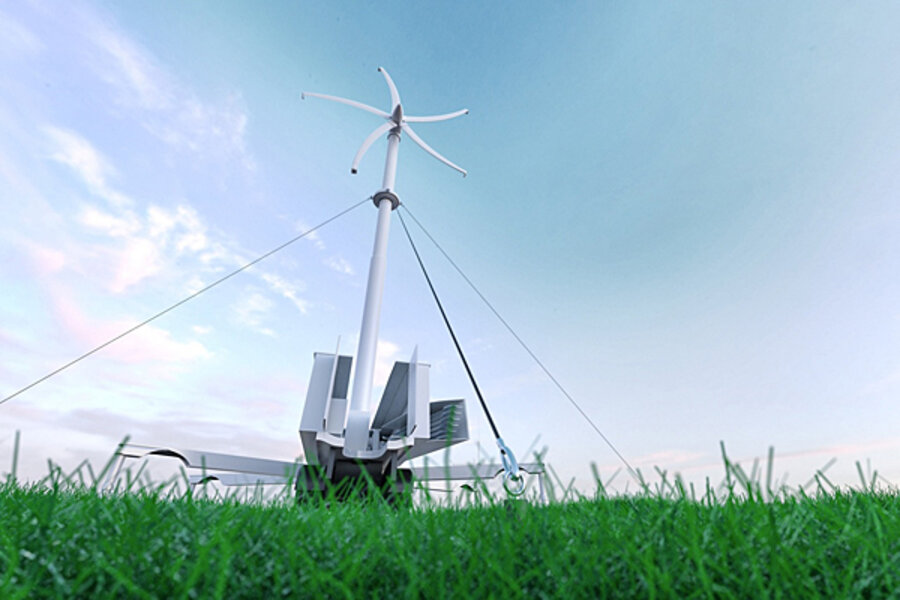 Green Technologies Portable Wind Turbine Promises Off