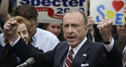 Longtime GOP Senate moderate Arlen Specter bucked his party