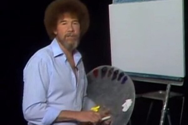 Bob ross how did he get so mellow csmonitor bob ross was the host of the joy of painting voltagebd Gallery