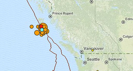 Magnitude 7.7 earthquake rattles West coast of Canada