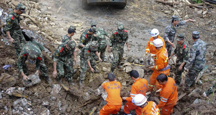 China landslide death toll rises to 19