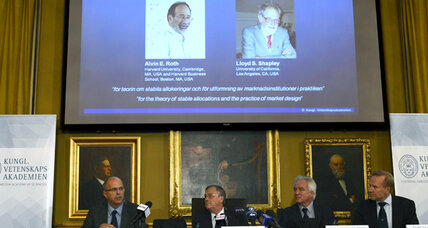 Two Americans awarded Nobel Prize for economics (+video)