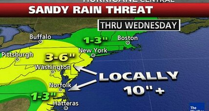 Hurricane Sandy liveblog: What to expect Saturday night and Sunday (+video)