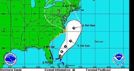 Hurricane Sandy liveblog: Which way is Sandy headed? The latest 'Frankenstorm' track