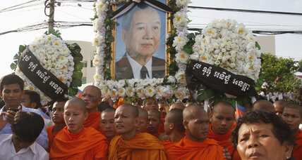 Sihanouk comes home to Cambodia for final time