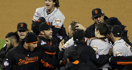 Giants sweep Tigers away for World Series title