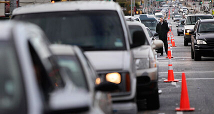 Why hours-long lines for gasoline aren't easing in Sandy-hit areas