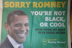 Bookies betting on obama