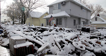 Nor'easter darkens Sandy-struck New York, New Jersey. But sunshine is next.