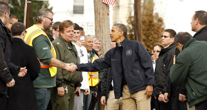 President vows to stick by New York storm victims on Sandy recovery tour