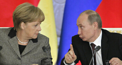 Germany's Merkel pays Putin a prickly visit