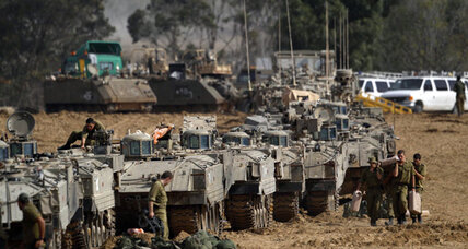 Gaza: Brief cease-fire shattered, Israeli troops mass outside Strip