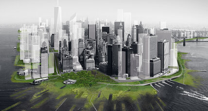 How will New York keep out a rising sea? Dikes, huge sea wall, oyster beds?