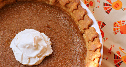 Butternut squash pie with sorghum whipped cream