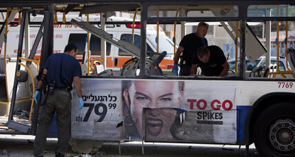 Bus bombing in Tel Aviv deflates Israeli interest in cease-fire with Gaza (+video)