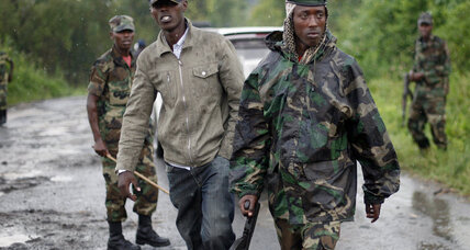 Congo's government won't negotiate unless rebels leave Goma