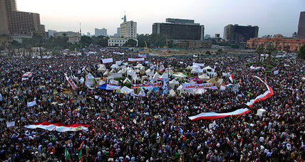 Protesters fill Tahrir as Egypt's President Morsi stands firm