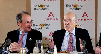 US plunge off 'fiscal cliff' is likely, say debt gurus Simpson and Bowles (+video)