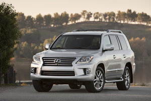 The 2013 Lexus LX 570 Is Shown In This Undated Commercial Photo From Lexus.  The LX Is The Most Expensive SUV On The Lexus Roster.