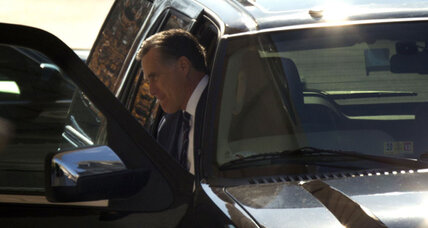 Romney heckler arrested after interfering with motorcade