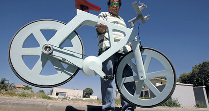 Izhar Gafni invents a cardboard bicycle that may revolutionize transportation