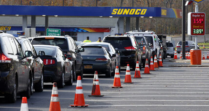 Gas shortages, long lines add to post-Sandy misery