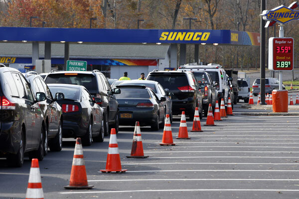 Gas shortages long lines add to post sandy misery - Garden state parkway gas stations ...