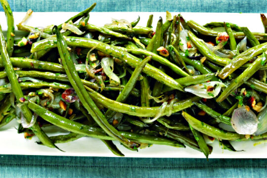 for green bean casserole - Garlic-roasted green beans & shallots ...