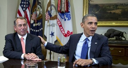 Obama-Boehner 'fiscal cliff' handshake: Could it actually hold?