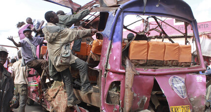Ethnic Somalis in Kenyan capital blamed for bombing minibus