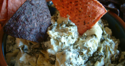 Election night party app: Artichoke and spinach dip