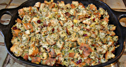 Stuffing recipe: Herbed chestnut stuffing with cranberries