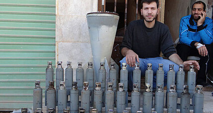 Did Syria drop cluster bombs on a playground near Damascus?